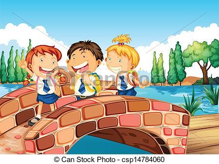 Illustration clipart gallery school Csp14784060 Children to school to