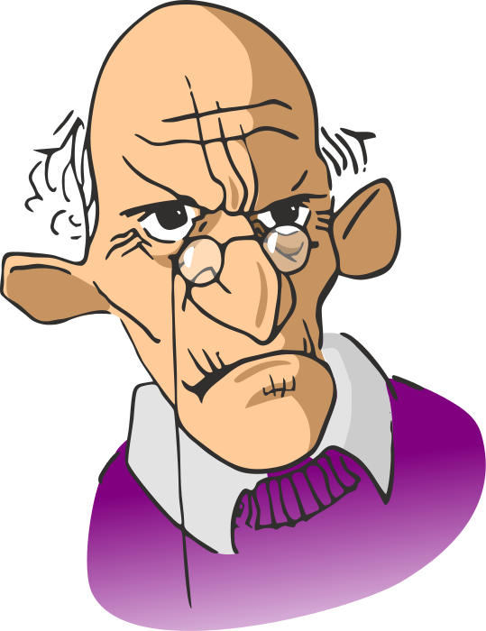 Illustration clipart grumpy man /cartoon/people/men_cartoons/old_men/grumpy_old_man old man grumpy png
