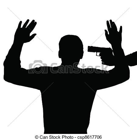 Illustration clipart gun Art Man against Clip with