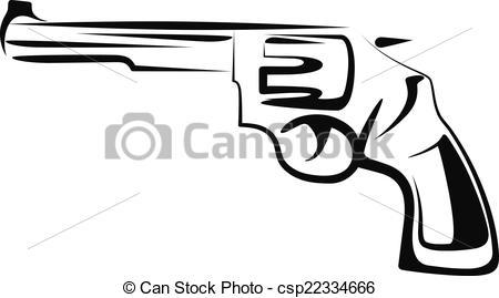 Illustration clipart gun Of a illustration Vector