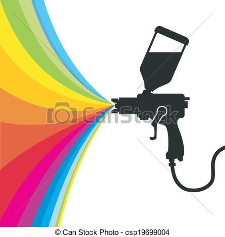 Illustration clipart gun Clipart gun vector Vector paint