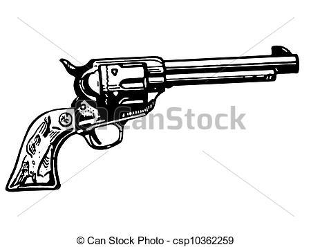 Illustration clipart gun White vintage of of Stock
