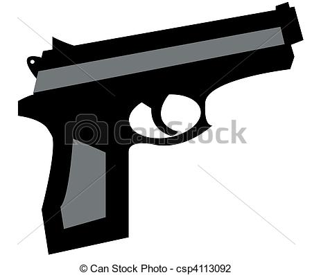 Illustration clipart gun And  csp4113092 in of