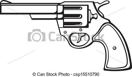 Illustration clipart gun Handgun revolver gun of EPS
