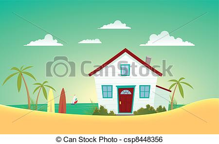 Illustration clipart hause Art House of Beach The