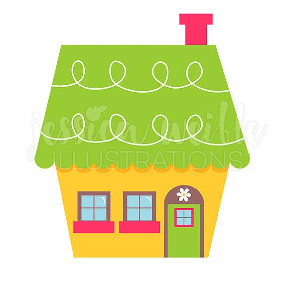 Illustration clipart home Digital Illustration Digital House Clip