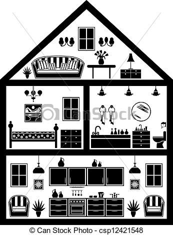 Illustration clipart home About Art LDS images printable