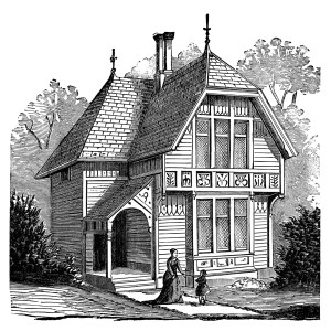 Building clipart old fashioned Victorian house illustration antique black