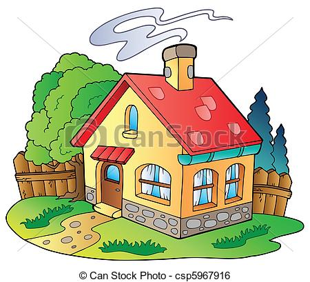 Illustration clipart hous Csp5967916  Small family of