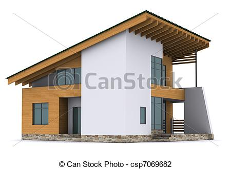 Illustration clipart house background Illustration roof green Clip Stock