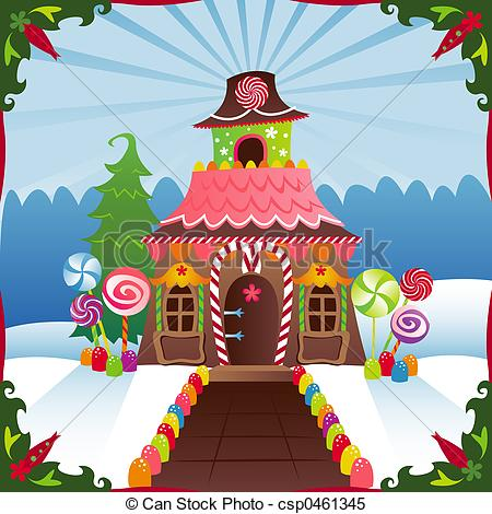 Illustration clipart house background Gingerbread Illustrations Stock House Snowy
