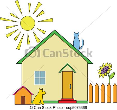 Illustration clipart house garden Kennel Small Small dog House