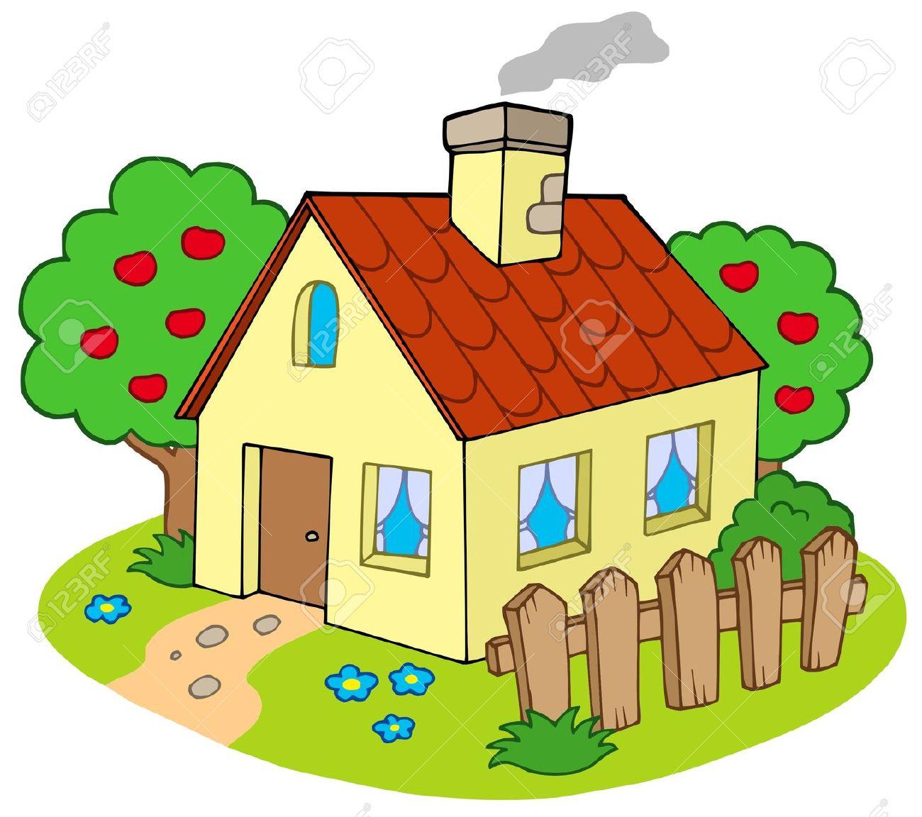Countyside clipart back garden Garden House Garden With Illustration