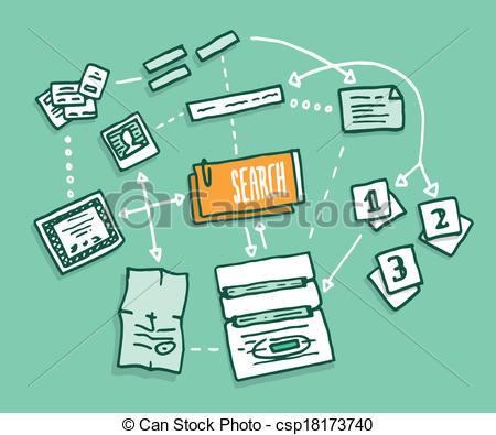 Illustration clipart information Gathering Vector algorithm Data information