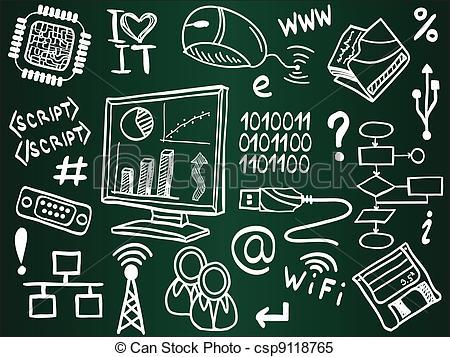 Illustration clipart information Internet board of Information