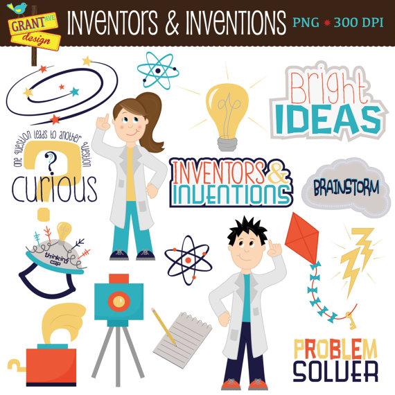 Illustration clipart inventor Clip INSTANT Clipart Science Inventors