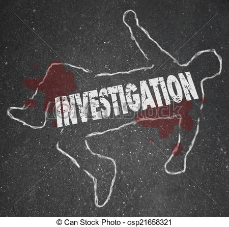 Illustration clipart investigation Chalk Word Scene Investigation Chalk