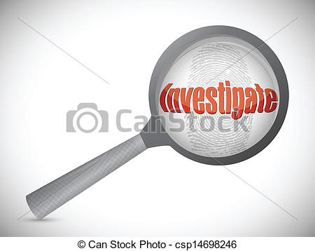 Illustration clipart investigation Search under search over investigation
