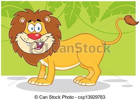 Illustration clipart jungle lion Lion Happy Safari Art african