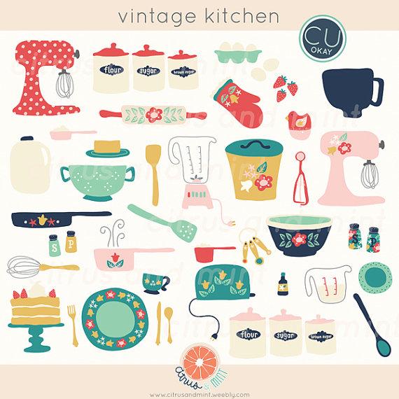 Drawn kitchen Hand Vintage Vintage Kitchen Baking