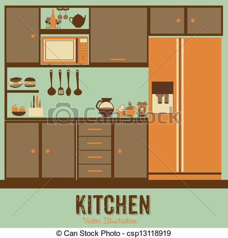 Illustration clipart kitchen Kitchen appliances Art Clip