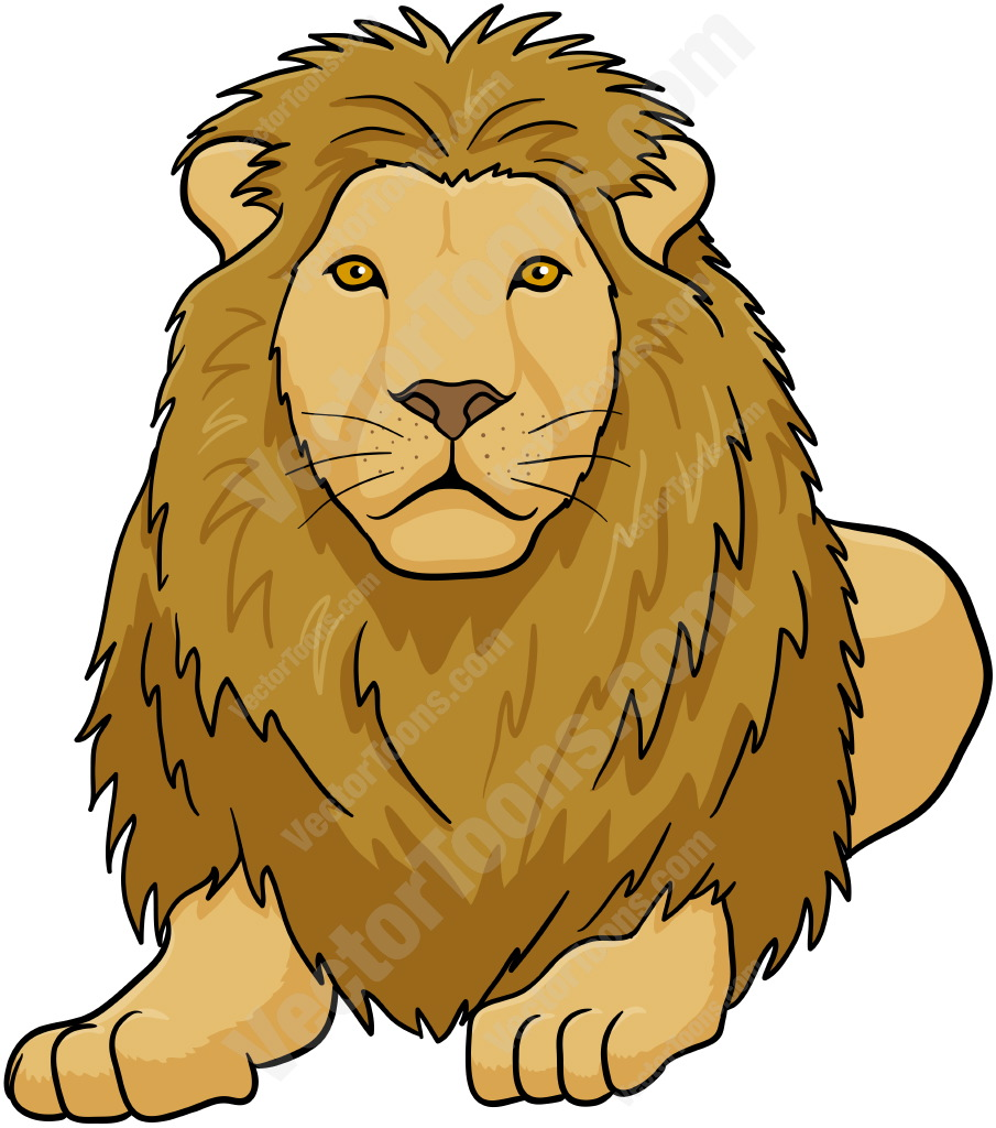 Illustration clipart lion mane Lying Male Down Clipart Clipart