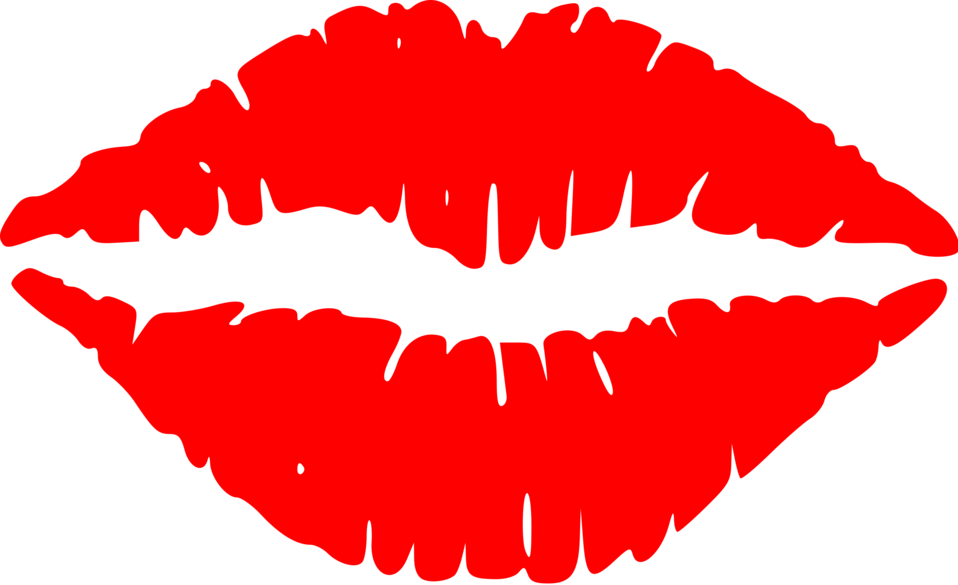 Illustration clipart lip : Stock red of red