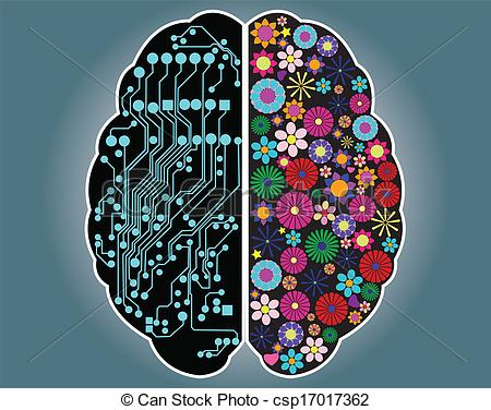 Brain clipart logical Side Clip of and and