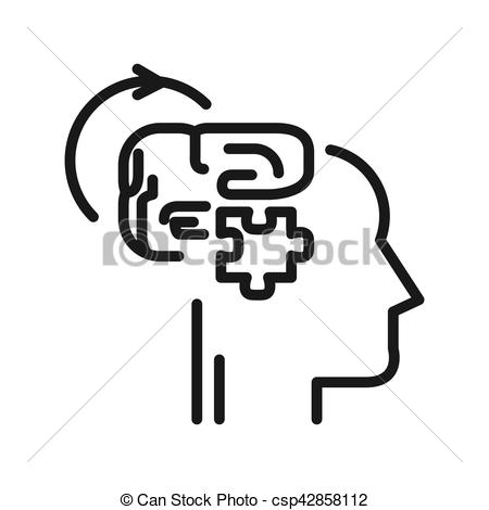 Illustration clipart logical Vector thinking thinking of design
