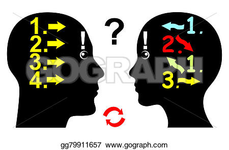 Illustration clipart logical Differ Clipart Man and Illustrations