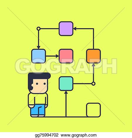 Illustration clipart logical Solution Drawing follows illustration gg75994702