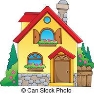Illustration clipart maison Art  illustration Small Clip