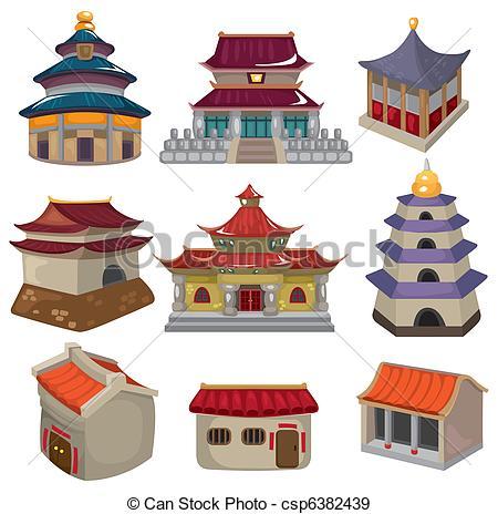 Illustration clipart maison Set set icon of icon