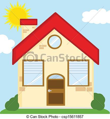 Illustration clipart maison Vector  Cartoon Clipart csp15611857