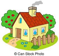 Illustration clipart maison Illustration Orchard 840 and isolated