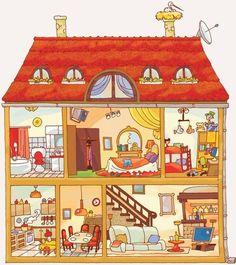 Illustration clipart maison Gravel  d'Élise Illustration dollhouse