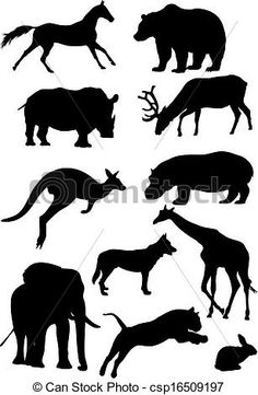 Illustration clipart mammal Clip Silhouettes free vector art