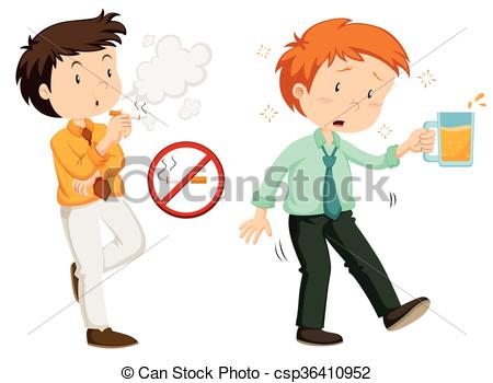 Smoking clipart alcohol Smoking illustration alcohol People Vector