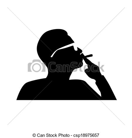 Smoking clipart silhouette A and vector Clip smoking