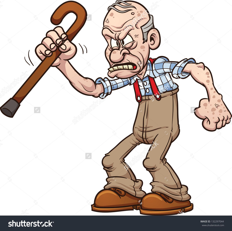Illustration clipart mean man Of man old clipartfox Clipart