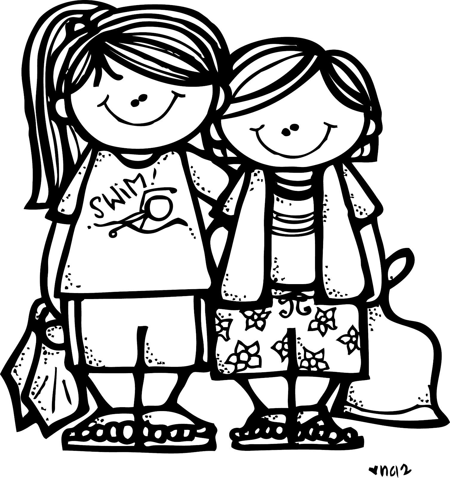 Illustration clipart melonheadz Girls LDS Camp illustrating: