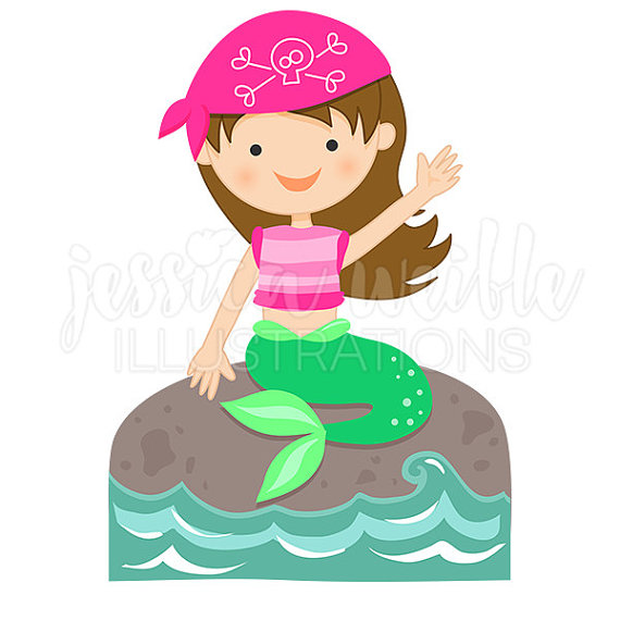 Illustration clipart mermaid Cute Etsy Mermaid Mermaid Digital