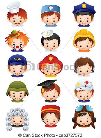 Illustration clipart occupation Icons illustration  csp3727572 Vector
