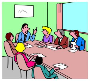Meeting clipart face to face communication Perfect the leader Usually is