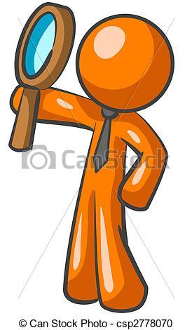 Illustration clipart orange man Illustration Orange Looking Stock Up