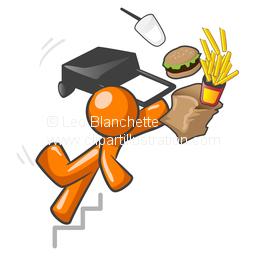 Illustration clipart orange man Fast ClipArt Man Style Falling