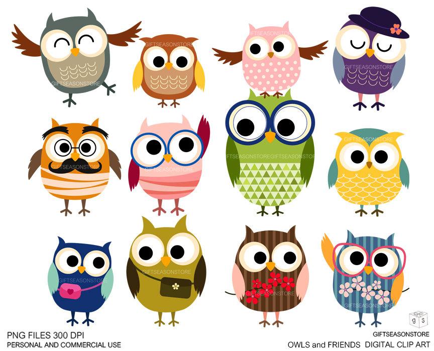 Owl clipart friend Digital art clip clip Owls