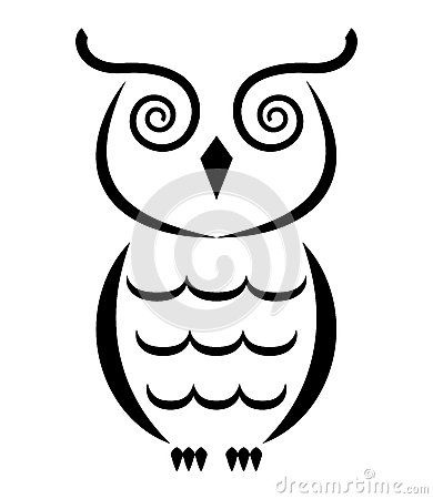 Simple clipart owl Stock 25+ 026 on (12