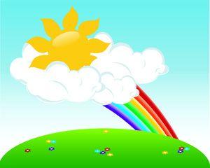 Illustration clipart pemandangan 89 gmk Rainbow Pinterest best