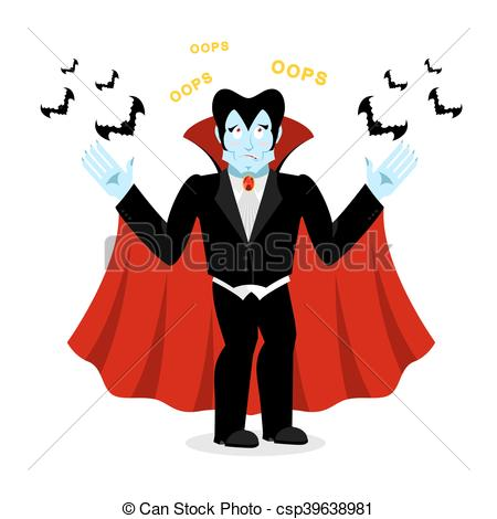 Illustration clipart perplexed Vampire Ghoul says Ghoul says